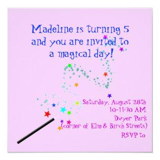 Invitación mágica 4 del cumpleaños