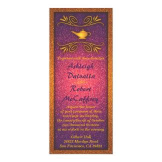 Invitación mágica colorida del boda de la lámpara