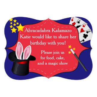Invitación mágica de la fiesta de cumpleaños