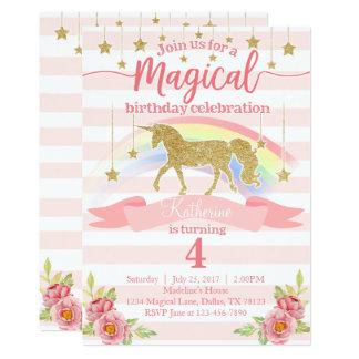 Invitación mágica de la fiesta de cumpleaños del