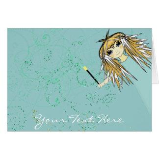 Invitación mágica de los días del animado tarjeta de felicitación