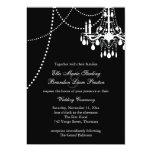 Invitación magnífica 3 del boda del salón de baile invitación 12,7 x 17,8 cm