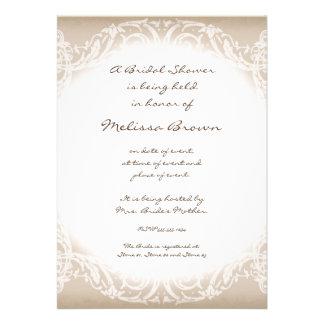 Invitación majestuosa del boda de la rama del remo