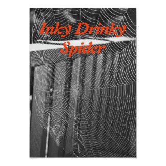 Invitación manchada de tinta de la araña de Drinky