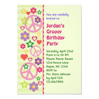 Invitación maravillosa retra de la fiesta de invitación 12,7 x 17,8 cm
