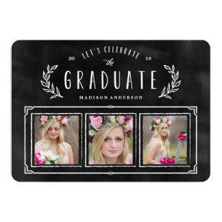 Invitación marcada con tiza de la graduación de la