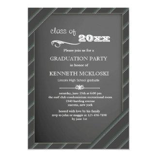 Invitación marcada con tiza de la graduación del
