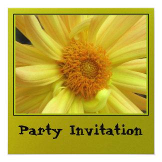 Invitación - margarita amarilla - multiusos