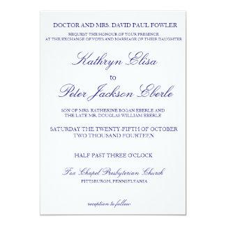 Invitación marina clásica