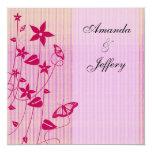 Invitación mariposa rosada y roja del | del boda