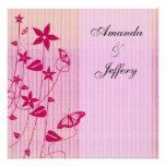 Invitación mariposa rosada y roja del | del boda d