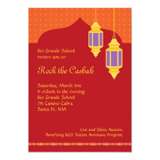 Invitación marroquí de la gala de la recaudador de invitación 12,7 x 17,8 cm