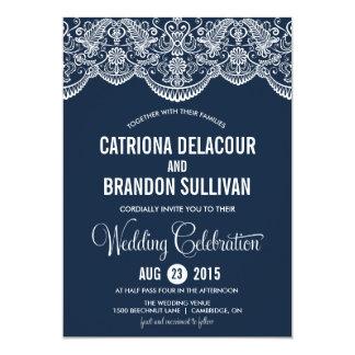 Invitación marroquí del boda del modelo del cordón