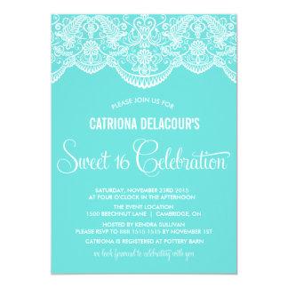 Invitación marroquí del dulce dieciséis del cordón