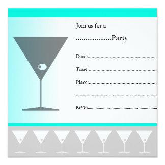 Invitación Martini del cóctel