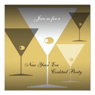 Invitación Martini del cóctel de Noche Vieja