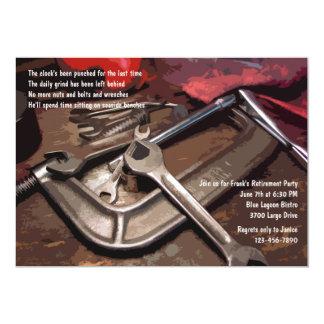 Invitación masculina de las herramientas invitación 12,7 x 17,8 cm
