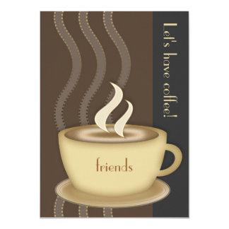 Invitación media personalizada de la taza de café