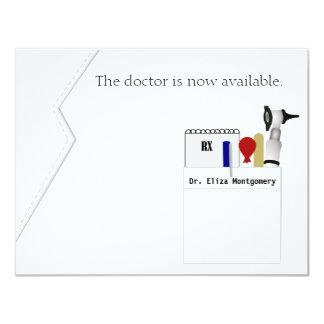 Invitación médica de la fiesta de graduación del