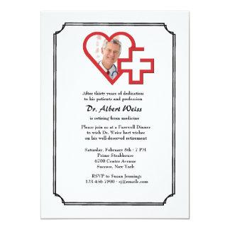 Invitación médica de la foto del fiesta de retiro invitación 12,7 x 17,8 cm