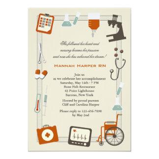 Invitación médica de la graduación de la escuela