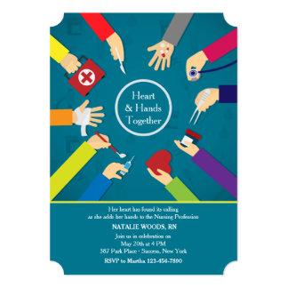 Invitación médica de la graduación de las manos