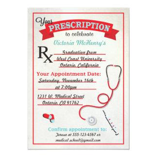 Invitación médica del cojín de la prescripción de