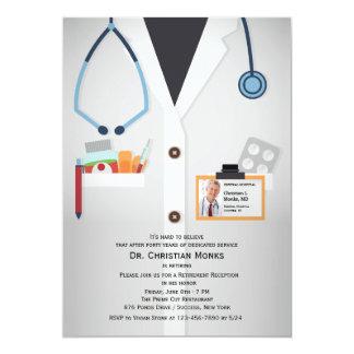 Invitación médica del retiro de la foto del