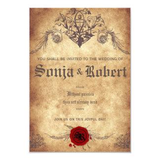Invitación medieval adaptable del boda de la