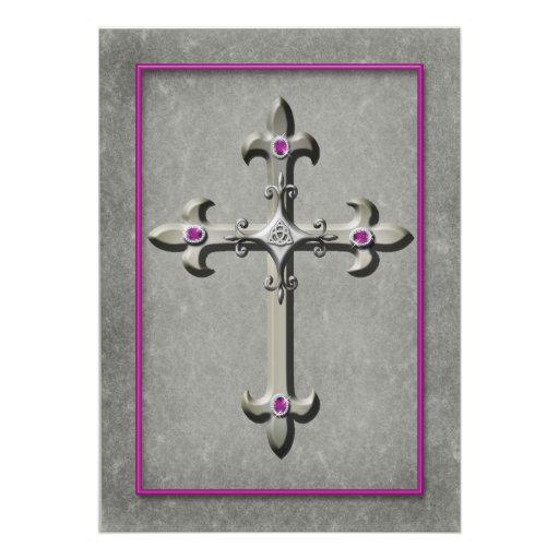 Invitación medieval del boda de la cruz céltica