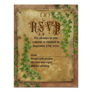 Invitación medieval del boda de RSVP