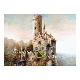 Invitación medieval del boda del castillo invitación 12,7 x 17,8 cm