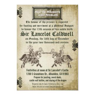 Invitación medieval del boda del cumpleaños del