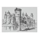 Invitación medieval del castillo invitación 12,7 x 17,8 cm