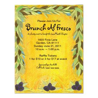 Invitación mediterránea de la guirnalda verde