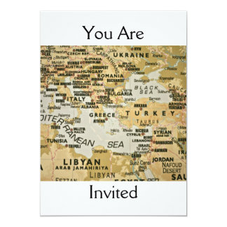 Invitación mediterránea del este del mapa