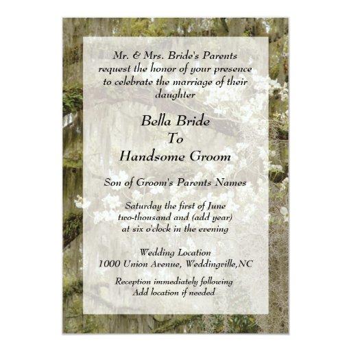 Invitación meridional del boda del encanto
