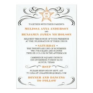Invitación meridional del boda del estilo de la