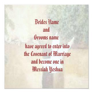 Invitación mesiánica del boda