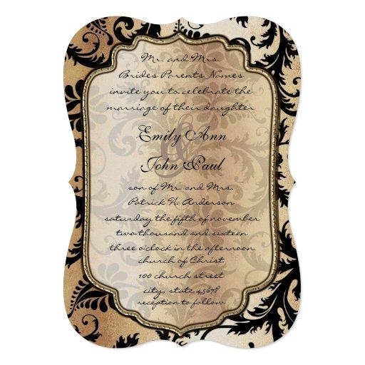 Invitación metálica del boda del hielo negro del