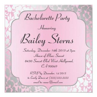Invitación metálica del fiesta de Bachelorette de