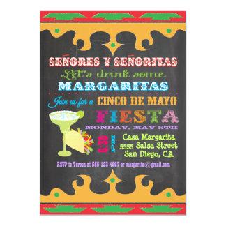 Invitación mexicana de Cinco de Mayo de la fiesta Invitación 12,7 X 17,8 Cm
