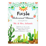 Invitación mexicana de la cena del ensayo de la