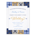Invitación mexicana del boda de la teja de