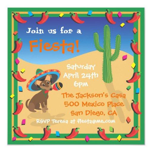 Invitación mexicana del fiesta de la fiesta de