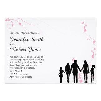 Invitación mezclada del boda de la familia