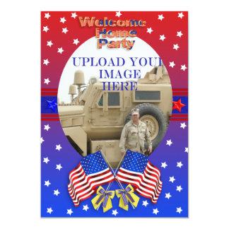 Invitación militar casera agradable
