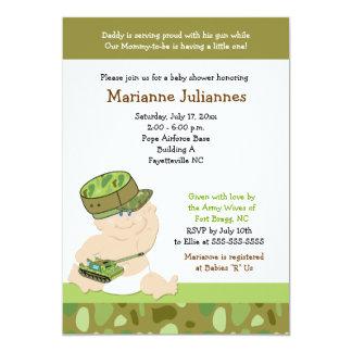 Invitación militar de la fiesta de bienvenida al