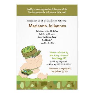 Invitación militar de la fiesta de bienvenida al b