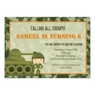 Invitación (militar) del ejército con el soldado